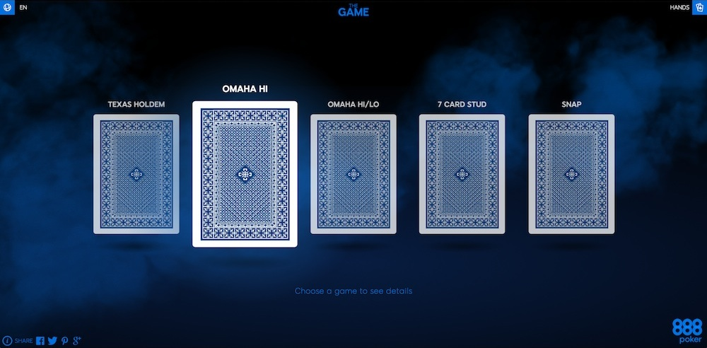 Выбрать тип игры в The Game