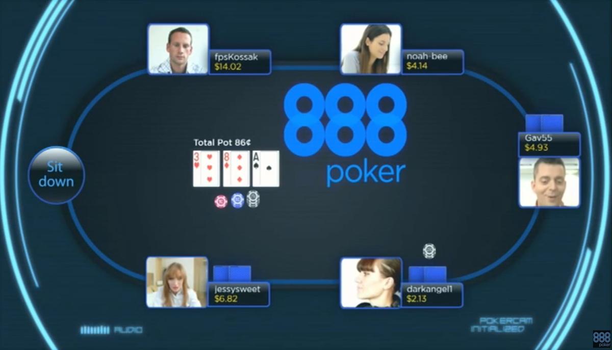 PokerCam на 888Poker