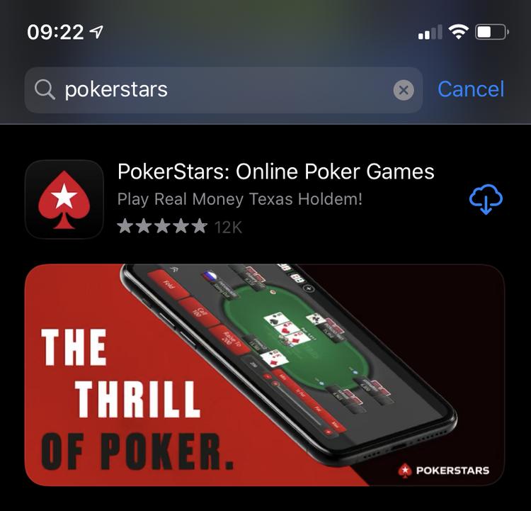 App Store pokerstars