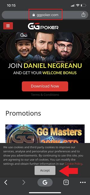 GGPoker on iOS