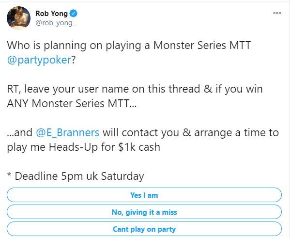 Página do Twitter de Rob Yong