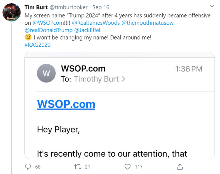 WSOP twitter