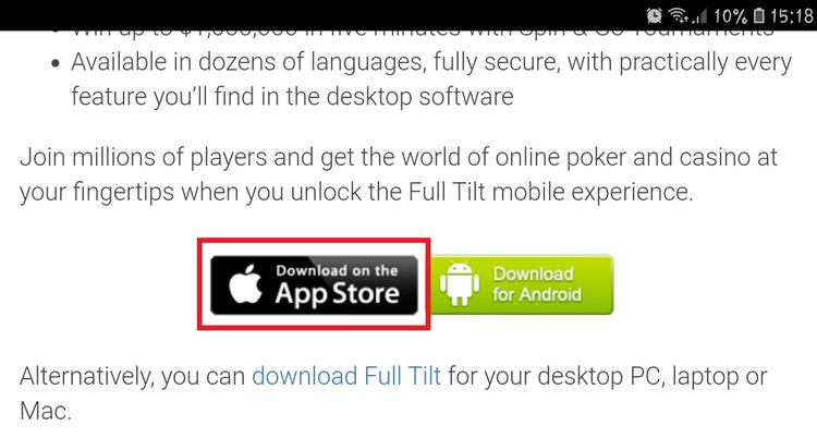 Full Tilt for iOS