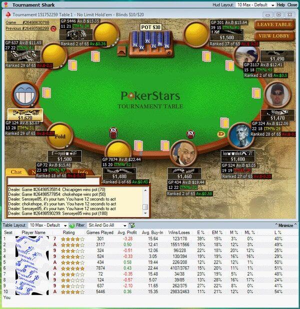 Tournament Shark poker program