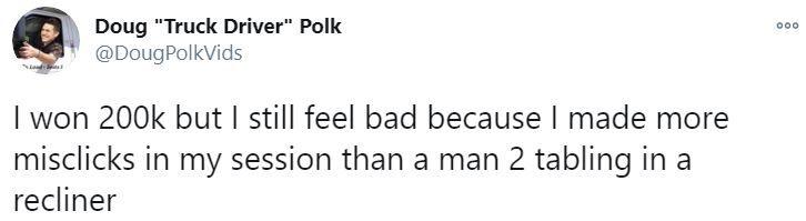 Douglas Polk's page on Twitter