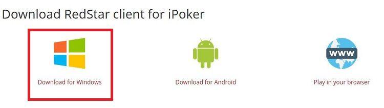 RedStar Poker client for Windows