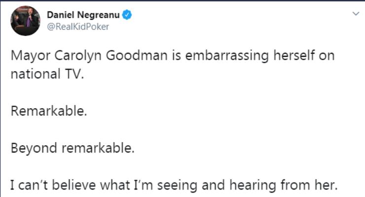 Negreanu on Twitter