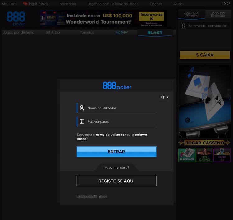 888 no navegador do smartphone