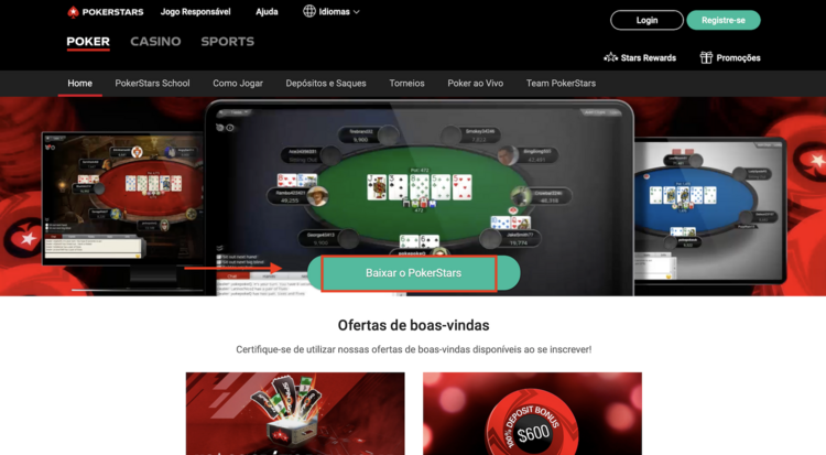 site oficial da PokerStars