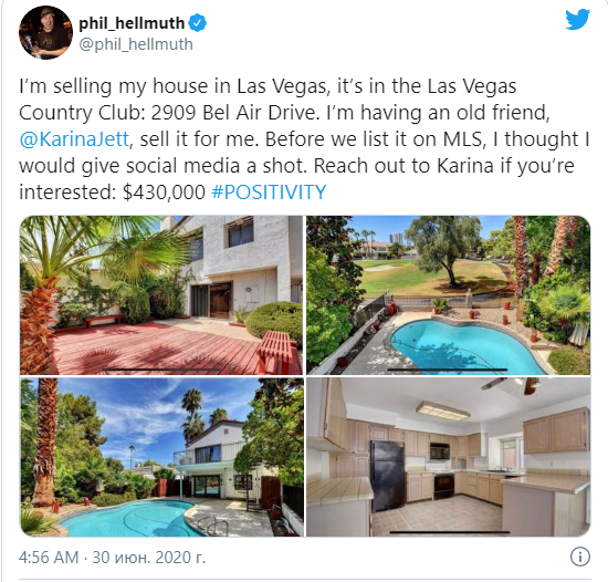 Hellmuth's post on Twitter