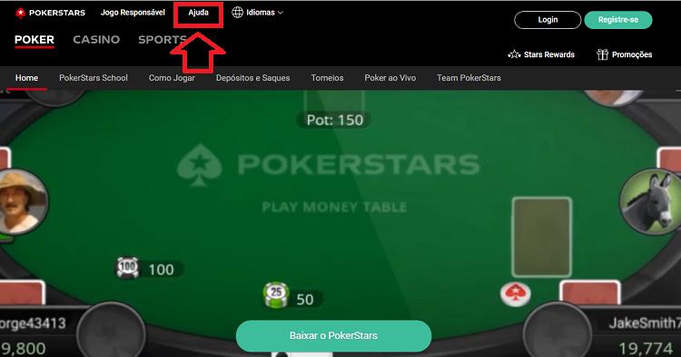Perguntas Frequentes na PokerStars