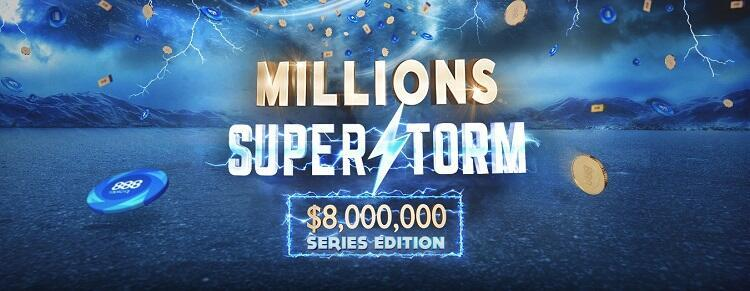888poker will hold Millions SuperStorm series