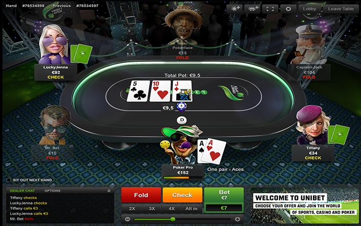 Série de Poker na Unibet