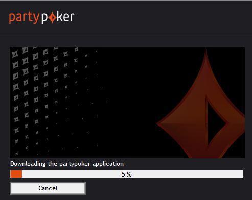 Processo de instalação da PartyPoker