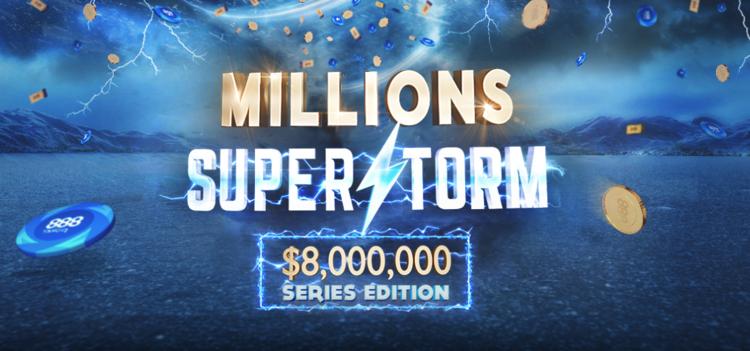Millions SuperStorm na 888poker