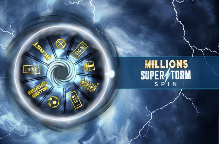 888poker SuperStorm wheel
