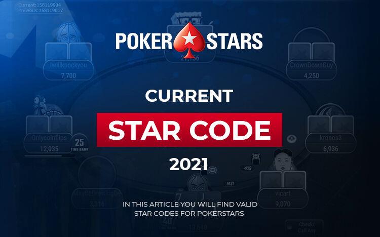 Code bonus pokerstars 2021