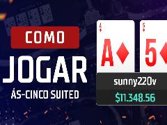 Como jogar Ás-Cinco suited em cash games