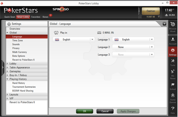 HM3 setup for PokerStars