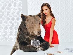 Дарья Фещенко сыграла в покер с медведем
