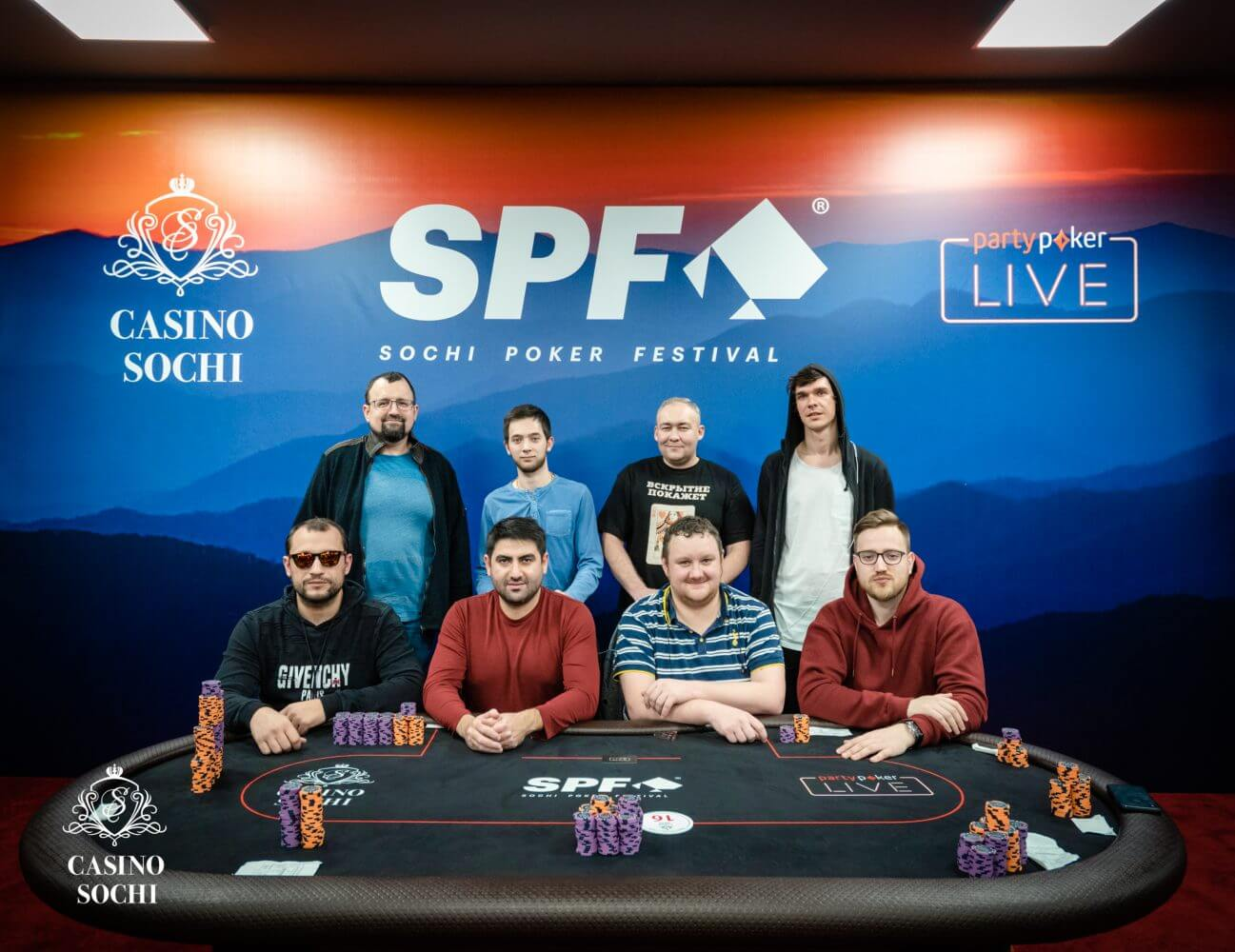 Финалисты Sochi Poker Festival Main Event 2018