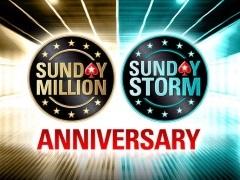 Юбилейные турниры Sunday Million и Sunday Storm