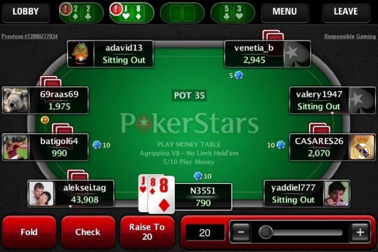 ПокерСтарс Андроид