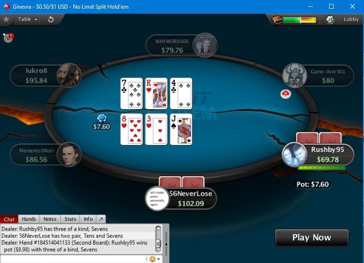 Играть Split Hold`em PokerStars