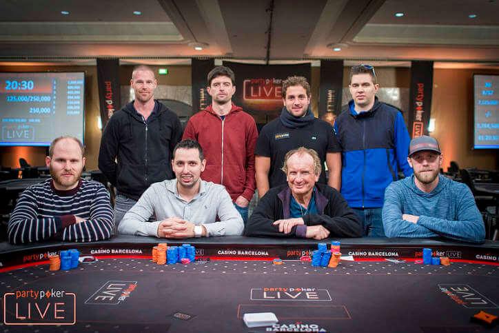 Финальный стол €50K Super High Roller 2018