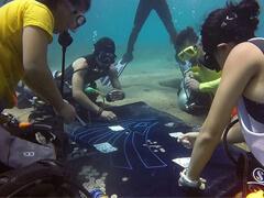 Дайверы обнаружили группу подводных покеристов