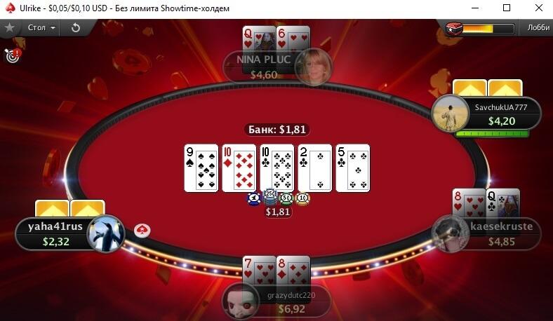 Showtime Hold'em на PokerStars