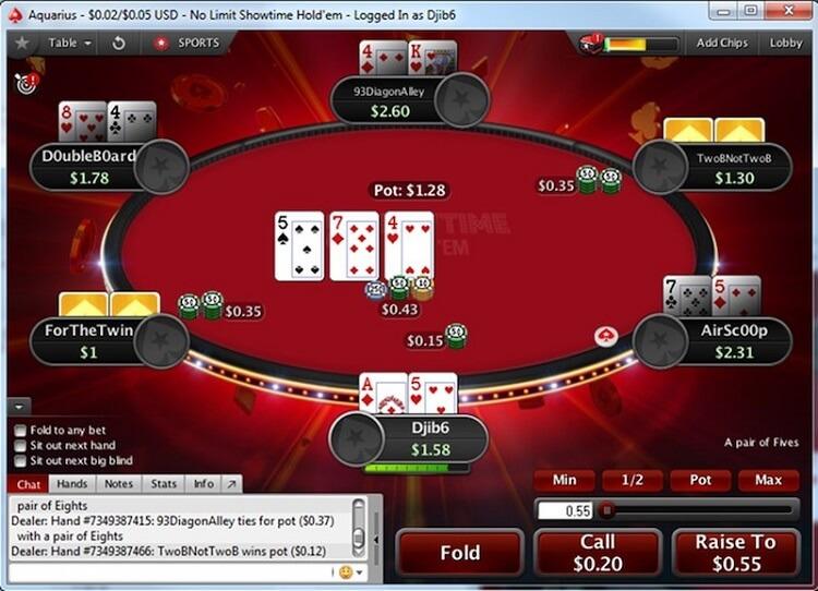 Новый формат кэш-игры на PokerStars: Showtime Hold'em
