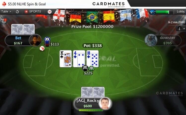 Spin&Goal на PokerStars за миллион долларов