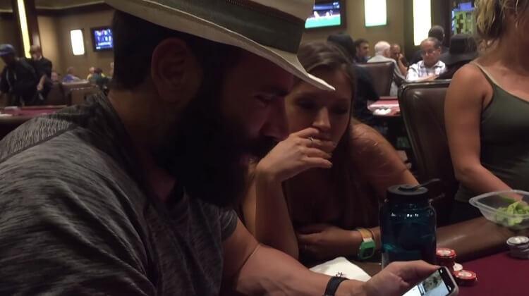 Дэн Билзерян сыграл дешевый кэш в Вегасе (Видео)