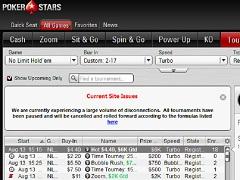 ПокерСтарс снова не работает: второй сбой покер-рума за сутки