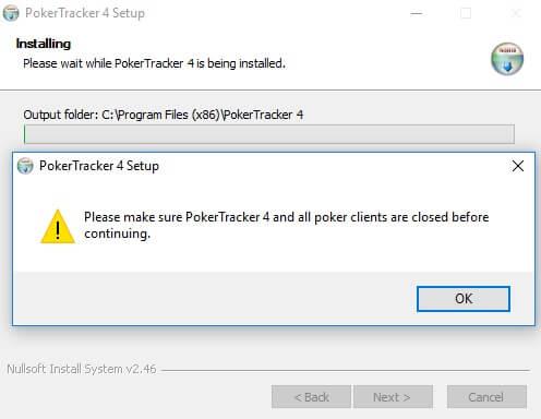 Error PokerTracker 4