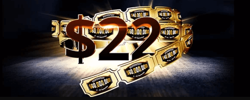 22$ бонус от Partypoker