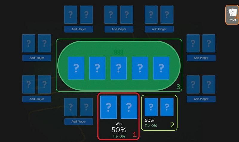 Poker calculator in online