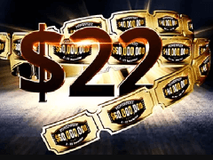 Partypoker: 22$ as a gift for new players