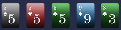 Set (triple) in poker