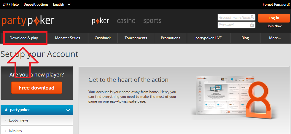Partypoker official website