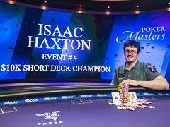 Poker Masters: Хекстон впервые сыграл в покер с короткой колодой и стал чемпионом
