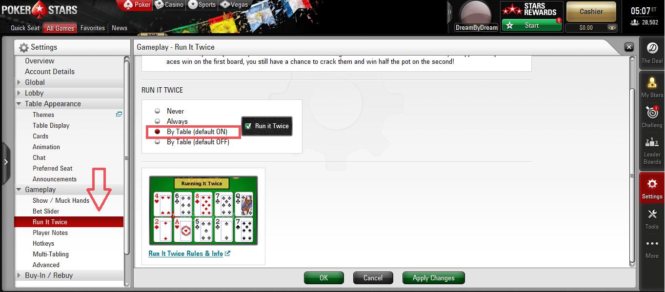 run it twice on pokerstars