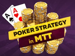 Poker strategy in MTT