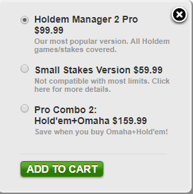 Price of Holdem Manager 2
