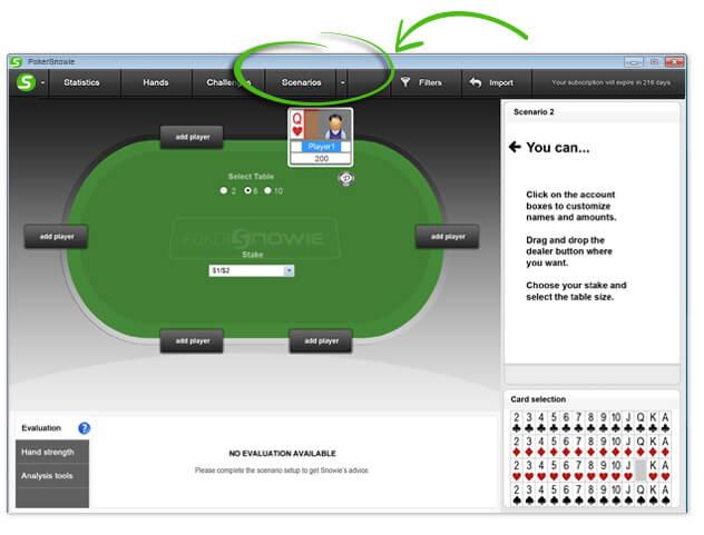 PokerSnowie Scenario