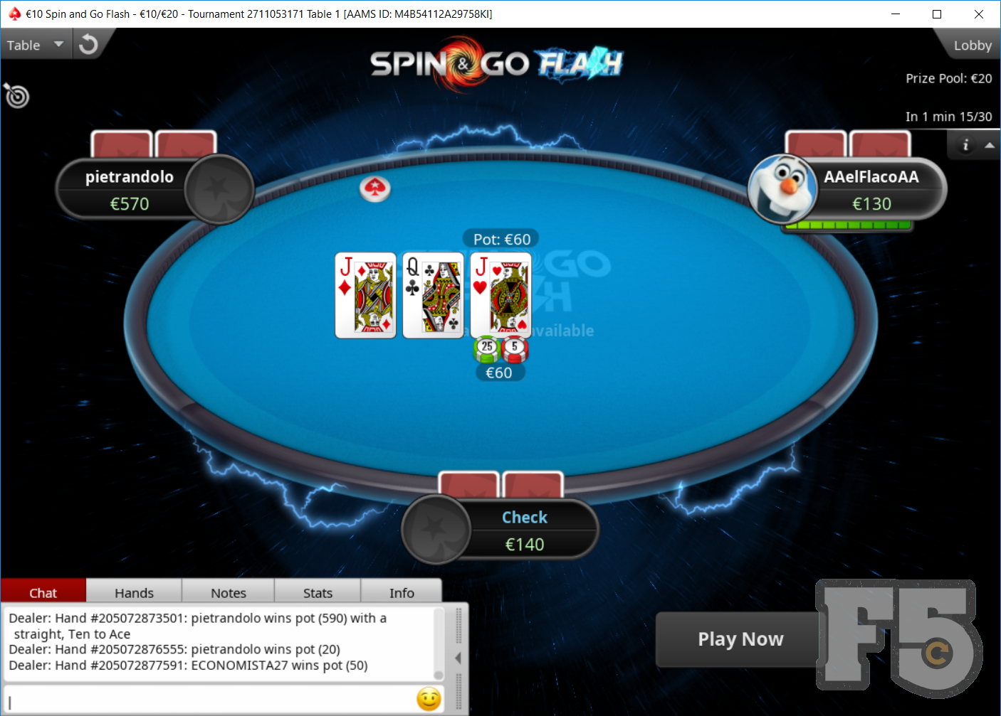 PokerStars Spin&Go Flash