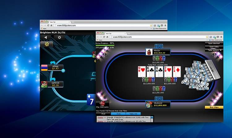 888poker in a browser