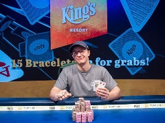 Kahle Burns wins his first bracelet at the WSOPE 2019