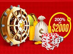 Бонус 200% на первый депозит от RedStar Poker